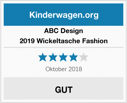 ABC Design 2019 Wickeltasche Fashion Test