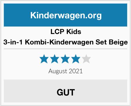 LCP Kids 3-in-1 Kombi-Kinderwagen Set Beige Test