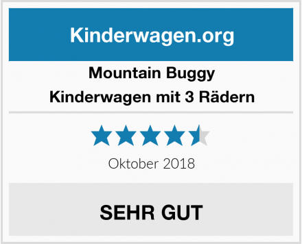 Mountain Buggy Kinderwagen mit 3 Rädern Test