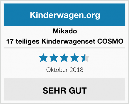 Mikado 17 teiliges Kinderwagenset COSMO Test