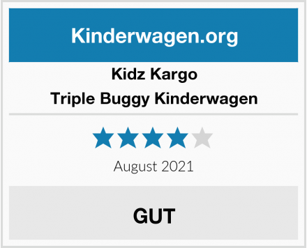 Kidz Kargo Triple Buggy Kinderwagen Test
