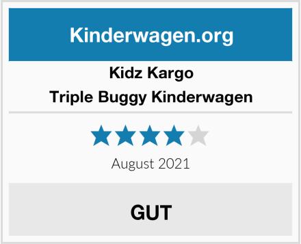 Kidz Kargo Triple Buggy Kinderwagen Test