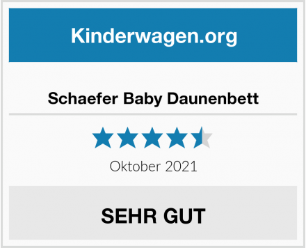 no name Schaefer Baby Daunenbett Test