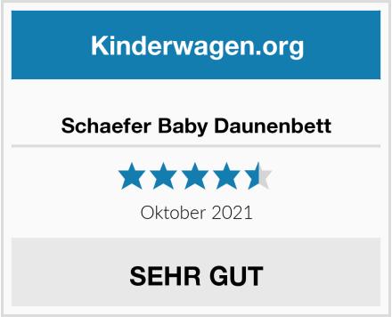 Schaefer Baby Daunenbett Test