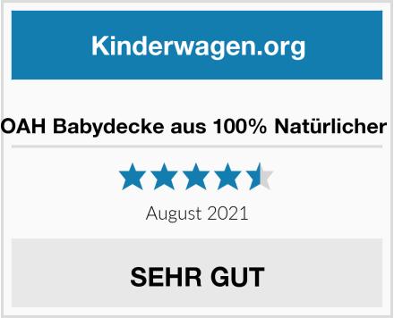 EMMA & NOAH Babydecke aus 100% Natürlicher Baumwolle Test