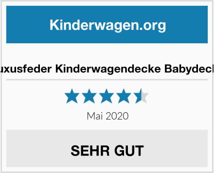 no name Luxusfeder Kinderwagendecke Babydecke Test
