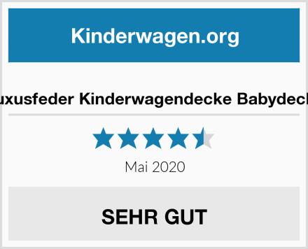 Luxusfeder Kinderwagendecke Babydecke Test