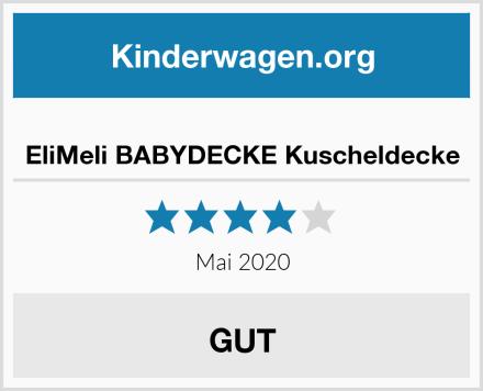 EliMeli BABYDECKE Kuscheldecke Test