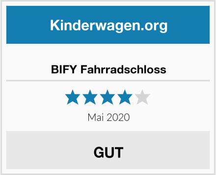 no name BIFY Fahrradschloss Test