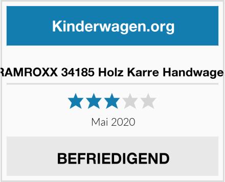 no name RAMROXX 34185 Holz Karre Handwagen Test