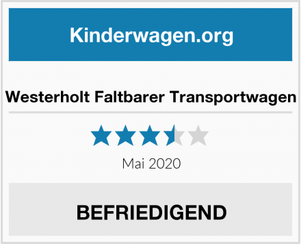 no name Westerholt Faltbarer Transportwagen Test