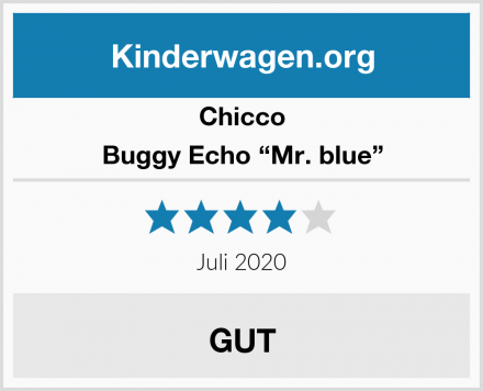 "Chicco Buggy Echo ""Mr. blue"" Test"