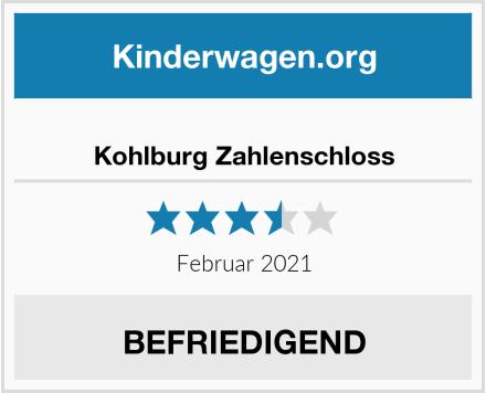Kohlburg Zahlenschloss Test