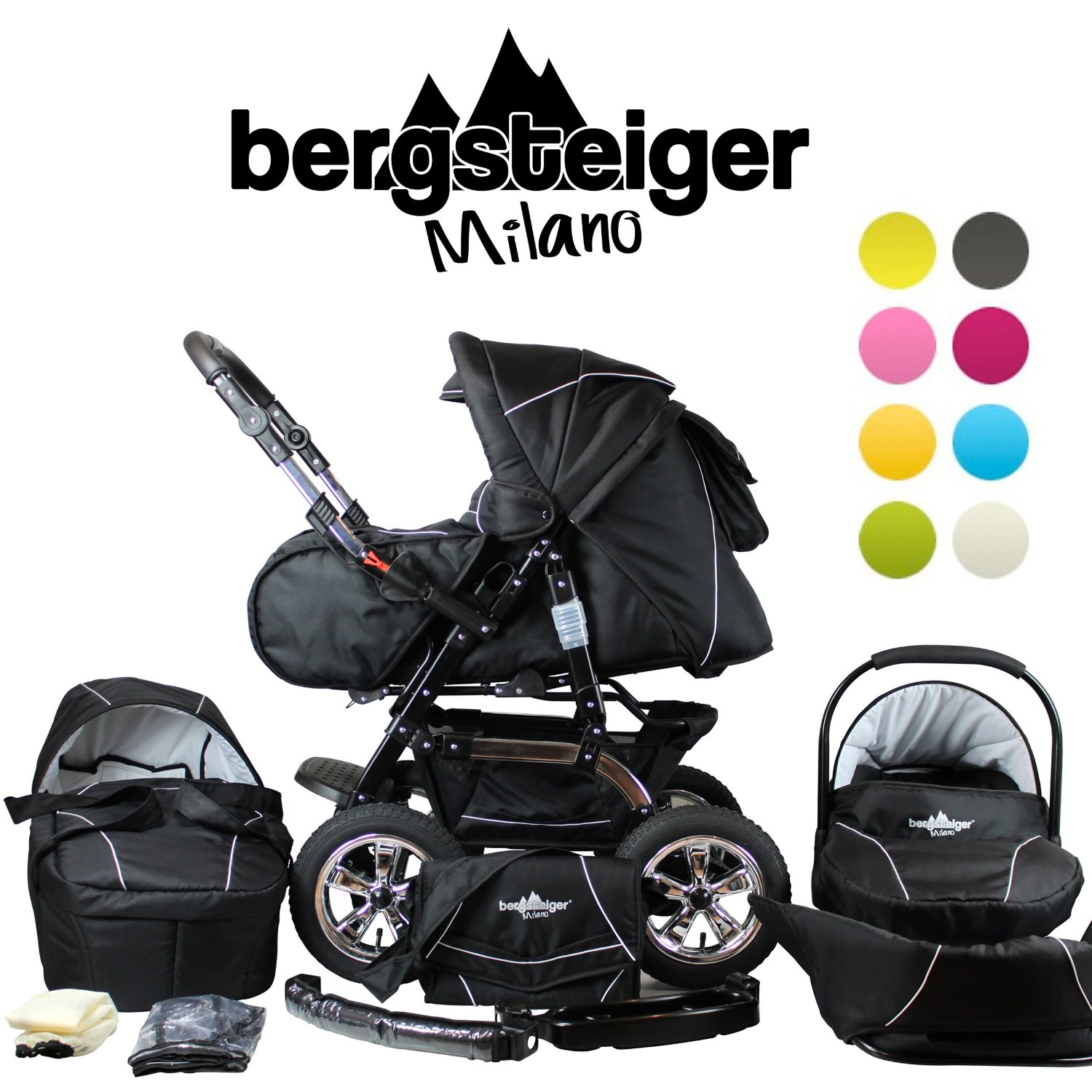bergsteiger milano kinderwagen test 2018. Black Bedroom Furniture Sets. Home Design Ideas