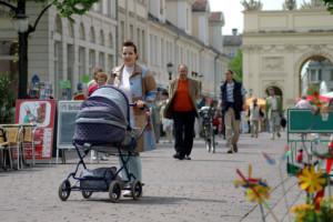 Stress vermeiden mit dem Kinderwagen in der Stadt