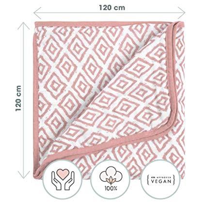 no name EMMA & NOAH Babydecke aus 100% Natürlicher Baumwolle