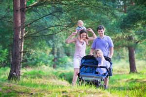 Rollen von Kinderwagen – von Luftreifen bis zum Kunststoffrad