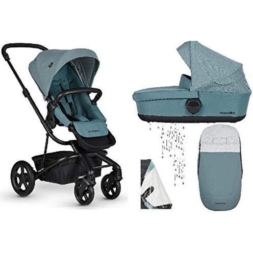 EasyWalker Harvey² Kinderwagen + Babywanne + Fußsack + Regenschutz Ocean Blue