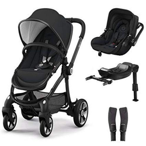 kiddy Evostar 1 Kinderwagen + Evoluna i-Size Autositz + Isofix Base 2 + Adapter