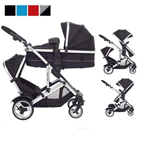 Kidz Kargo Doppel-Kinderwagen für Zwillinge DS