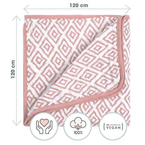 EMMA & NOAH Babydecke aus 100% Natürlicher Baumwolle